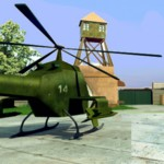 Защита военной базы — стрелялка с вертолетом
