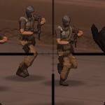 Военная база под защитой снайперов