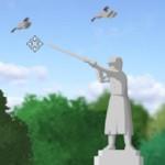 Птицы над памятником