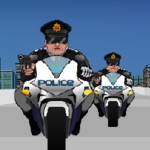 Игра-стрелялка против полиции на мотоциклах