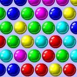 По разноцветным шарикам