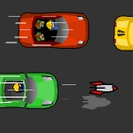 Езда на машине на большой скорости со стрельбой ракетами