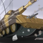 Большой танк в городе