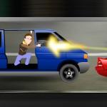 Стрельба из машины по машинам