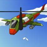 Полицейский вертолет против бандитов над небоскребами