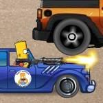 Симпсон Барт на машине